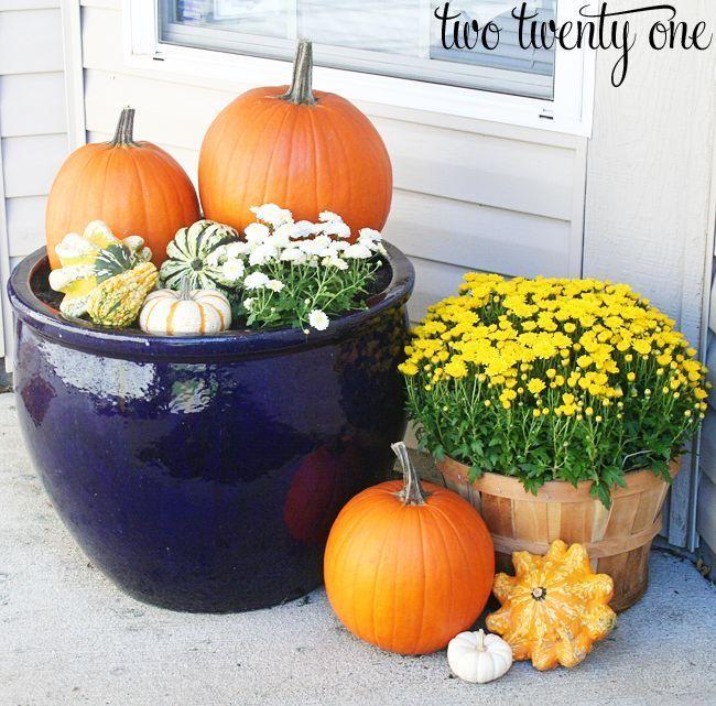DIY Ideen für herbstliche Halloween Veranda Deko mit Stil #herbstdekoeingangsbereich