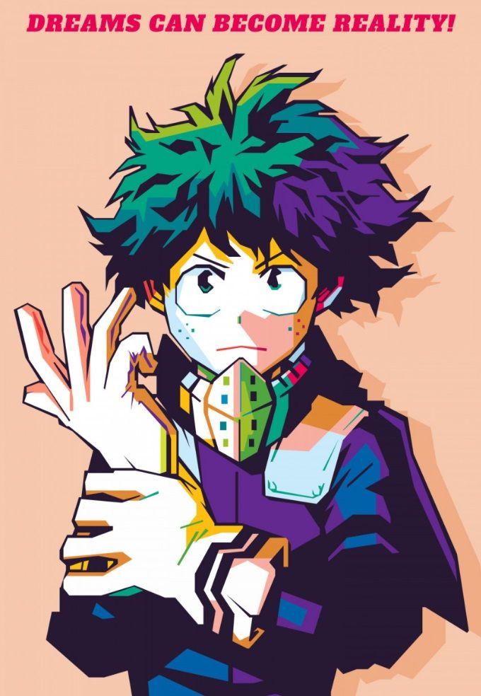 Midoriya Izuku Metal Poster Print Nofa Aji Zatmiko Displate My Hero Academia Memes Cool Artwork Poster Prints