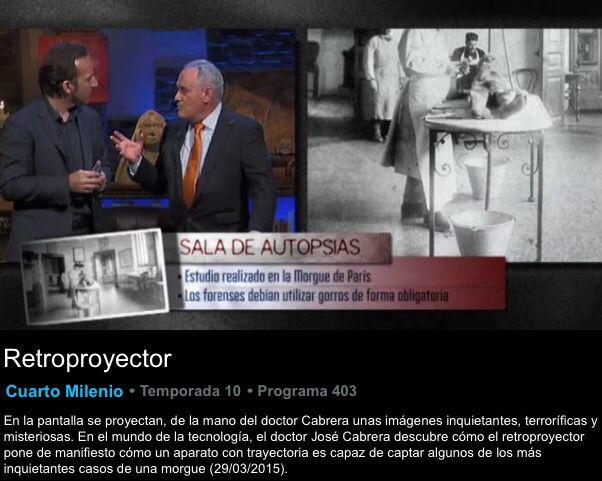 audiencias Ayer #CuartoMilenio acompañado por un 9.7% share y 1.136 ...