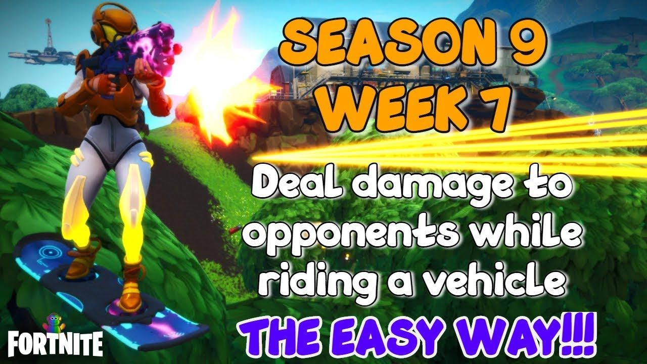 Fortnite Deal damage to opponents while riding a vehicle