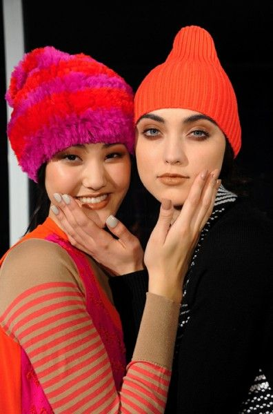 Satin Suede Metallic Manis by CND - M. Patmos Fall 2012 show