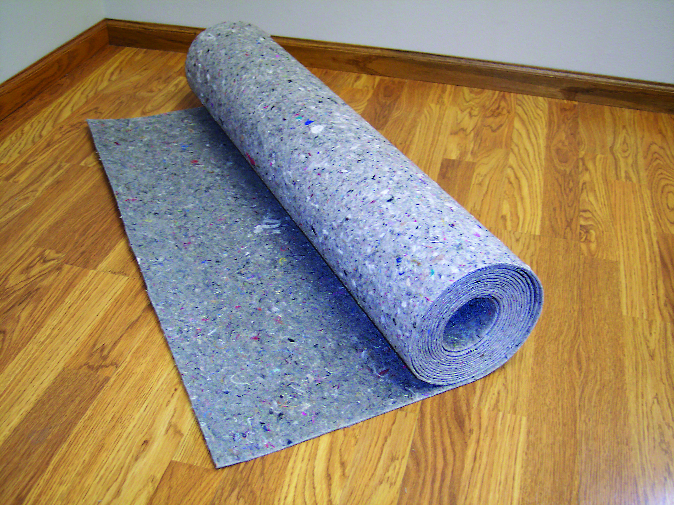 Insulayment acoustic and insulating underlayment for glue-down and ...