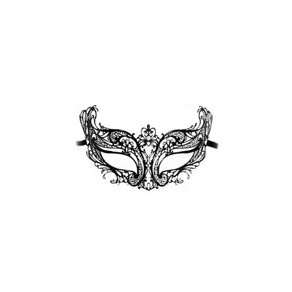 Chantal Luxury Metal Laser Cut Womens Masquerade Mask ($8) ❤ liked on Polyvore featuring costumes, masks, accessories, womens halloween costumes, lady costumes, ladies halloween costumes, masquerade halloween costume and masquerade costume