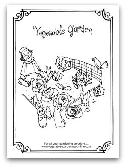 Free Vegetable Garden Coloring Books Gardens Coloring Book