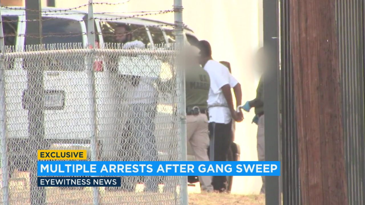 Legends Crips Gang members arrested in gang sweep in LA