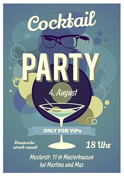 Druckvorlage Einladung Cocktailparty Bei Wunschblatt
