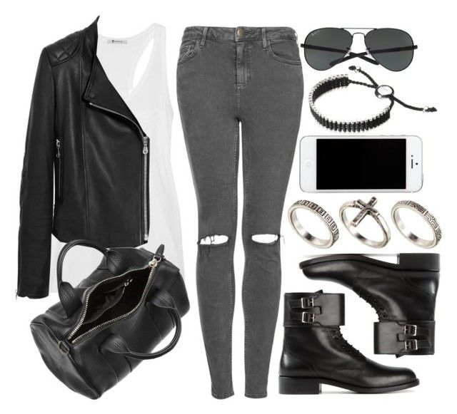 """""""Style #4851"""" by vany-alvarado ❤ liked on Polyvore featuring Topshop, T By Alexander Wang, Mulberry, Alexander Wang, Yves Saint Laurent, Ray-Ban, ASOS and Links of London"""