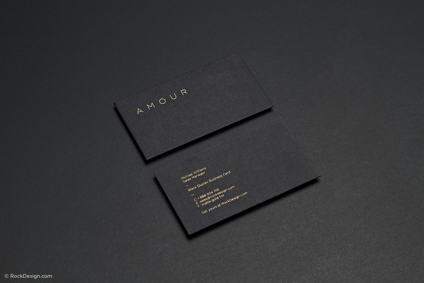 Fancy unique black business card design template - Amour ...