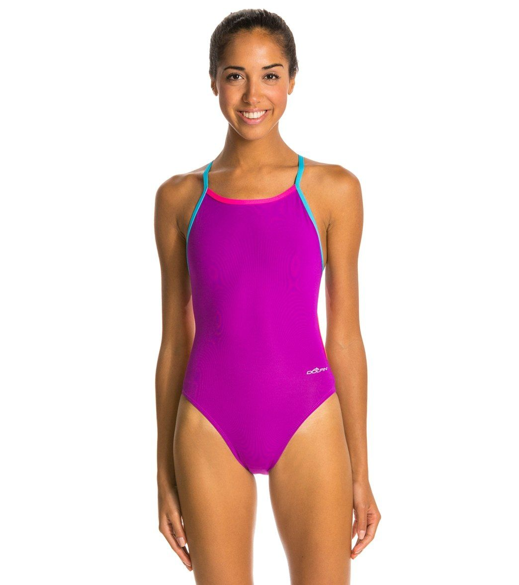 Dolfin Bellas Solids Butterfly Back One Piece Swimsuit At Swimoutlet Com Free Shipping One Piece Swimsuit One Piece Swimsuits