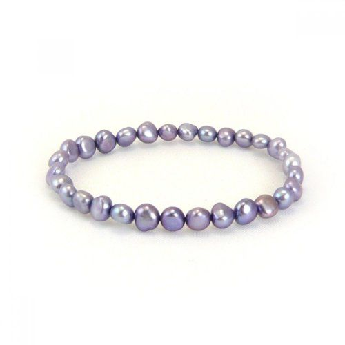Honora Purple Baroque Freshwater Cultured Pearl Stretch Bracelet