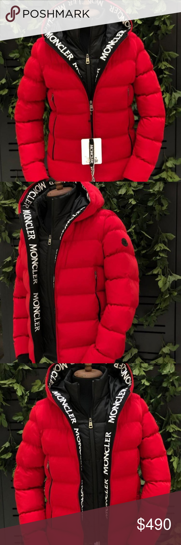 Moncler Men's Red Puffer Jacket NWT in 2020 Red puffer