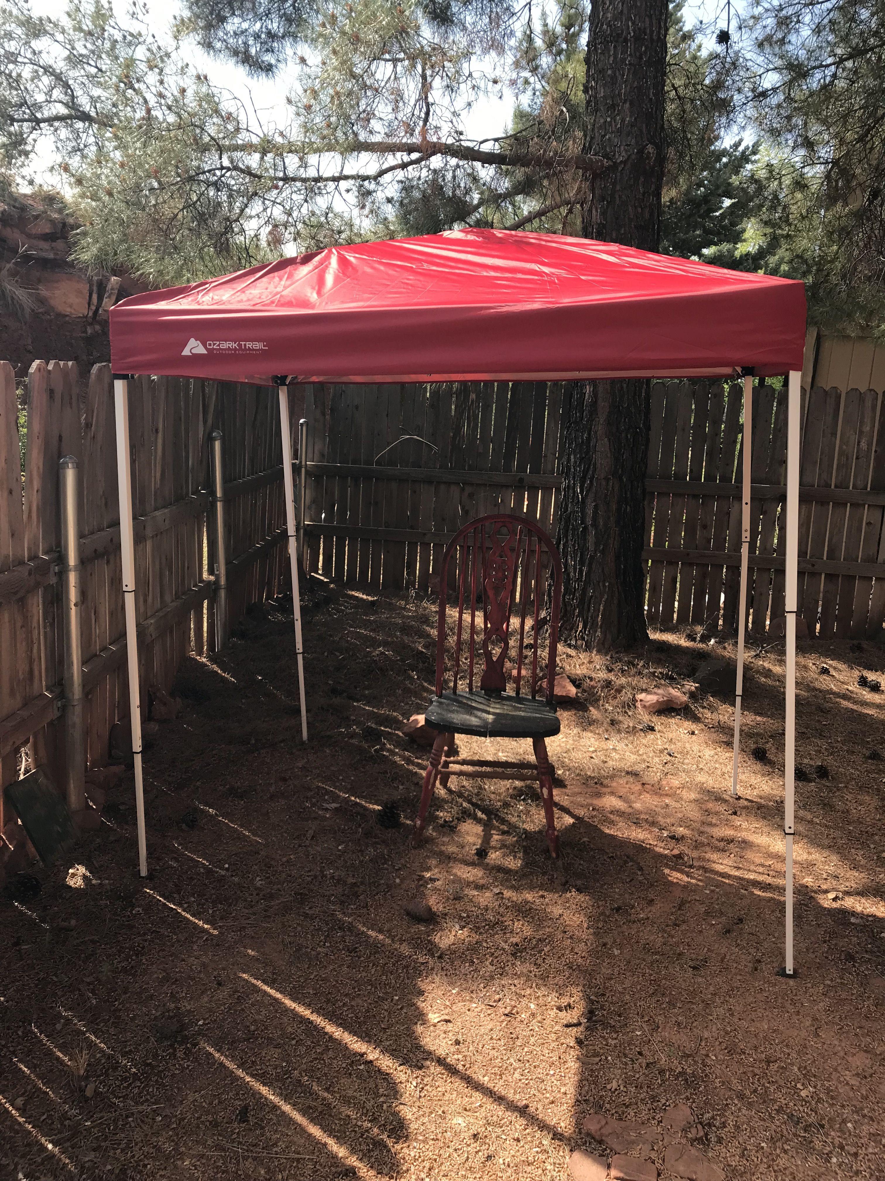 Ozark Trail 4x6 Canopy I Did A 2 Man Job With Just Me A Bit Of