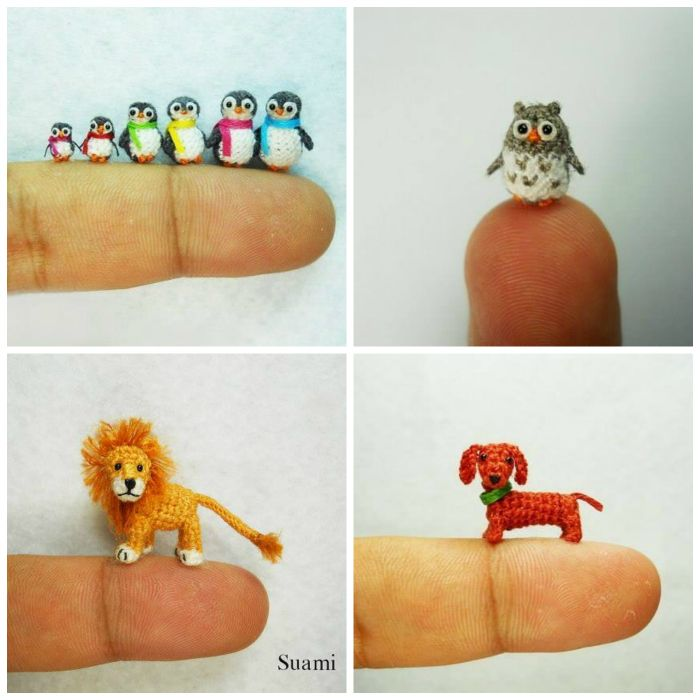 Miniature Crochet Animals (Free Patterns) DIY Cozy Home Crochet Pintere...