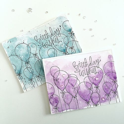 Birthday Wishes Watercolor Washes Watercolor Birthday Cards