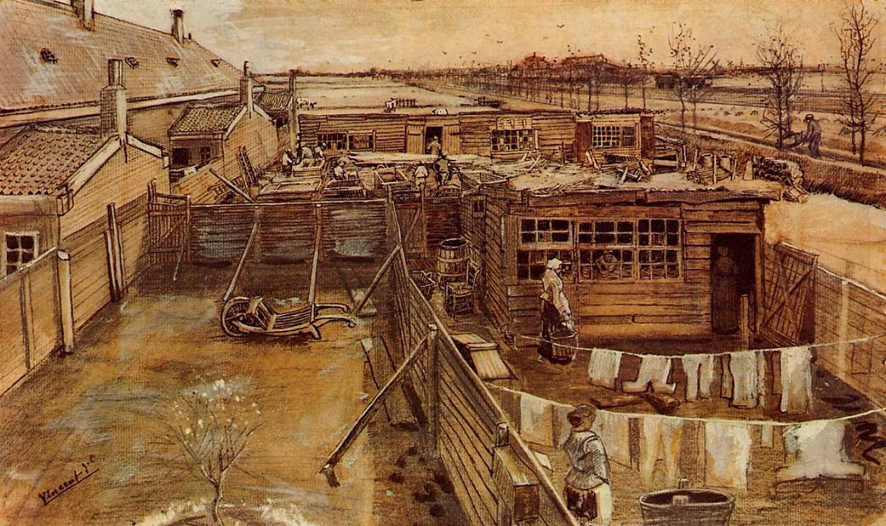 Carpenter's Workshop Seen from the Artist's Studio, Vincent van gogh  1882