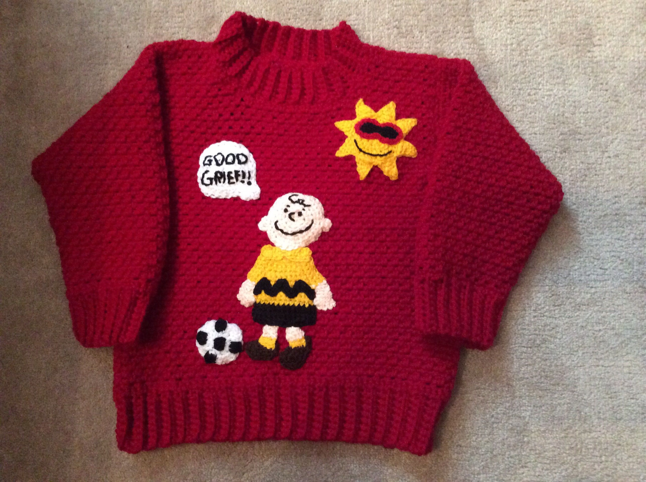 Crochet Charlie Brown sweater front | Crochet -Finished Projects ...