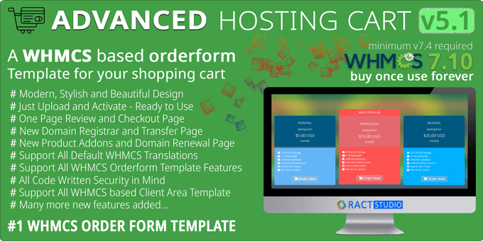 Advanced Hosting Cart WHMCS Order Form Template in 2020