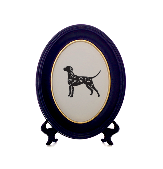 Silhouetted cut-out of Disney\'s favourite dog, the Dalmatian with ...