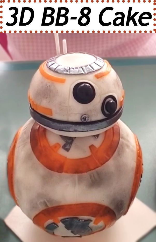Check out this impressive Star Wars BB-8 Cake that stands up on its own.