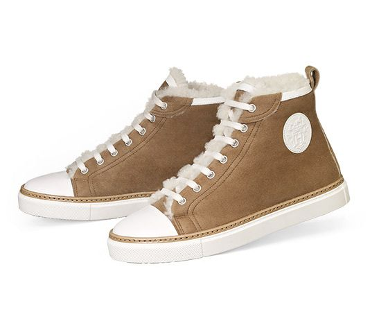 Love these shoes!! Jimmy Hermes ladies  sneaker in wool and calfskin with  palladium plated