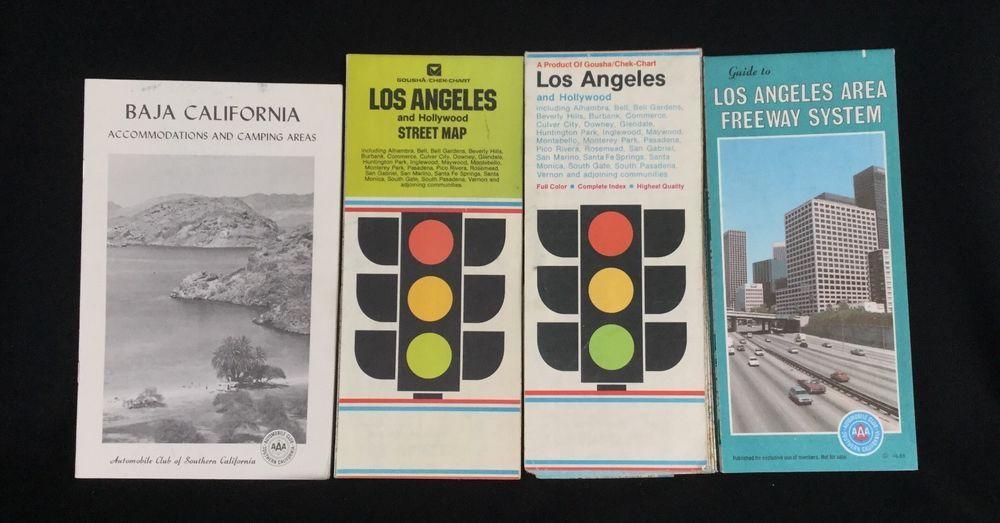 California Map Hwy 99%0A Vintage Maps  LA and Hollywood Maps and Baja CA Camping AAA SoCal