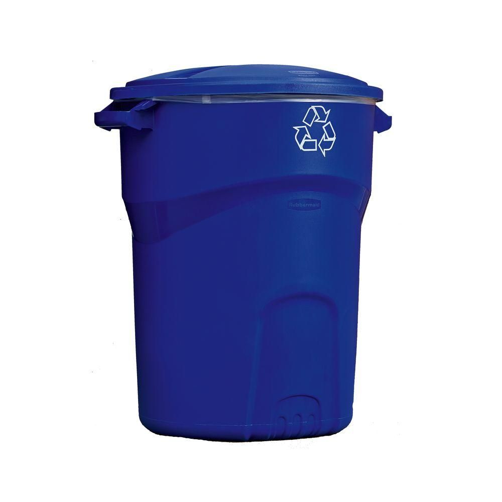 Home Depot Recycling Bins Rubbermaid Roughneck 32 Galoutdoor Recycling Bin  Recycling