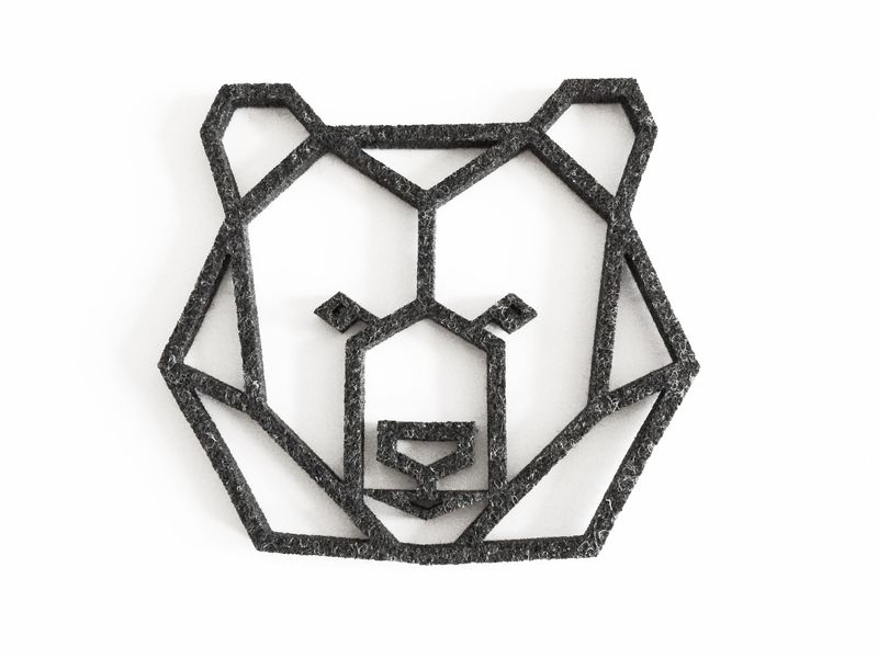 geometric bear head felt coaster from enna shop by DaWanda ...