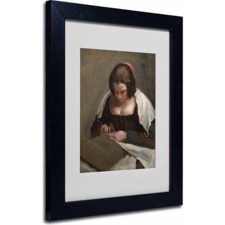 Trademark Fine Art The Needlewoman 1640 50 Inch Canvas Art By Diego