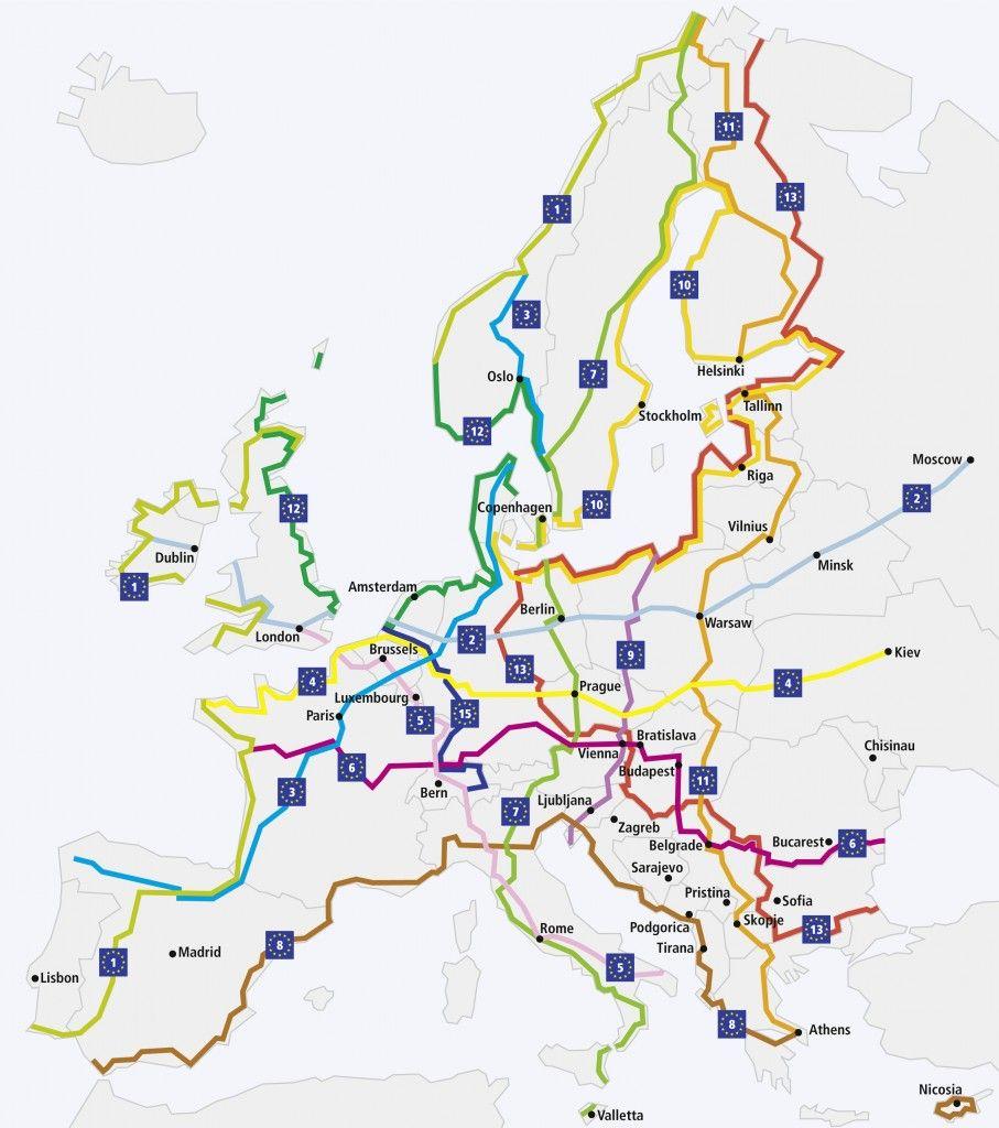 Rutas Eurovelo Fiets Vakantie Fietsvakantie Fietstochten