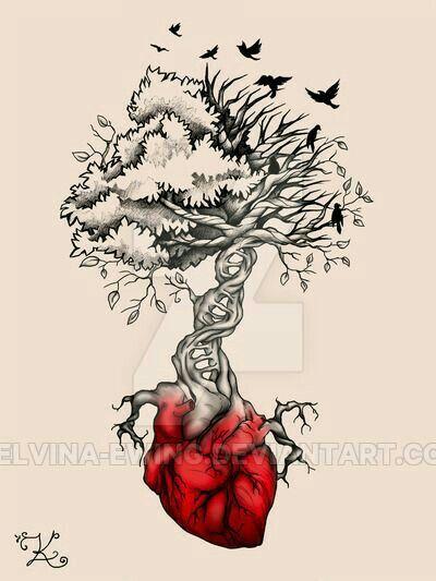 arbol con corazon ideas de tatuajes