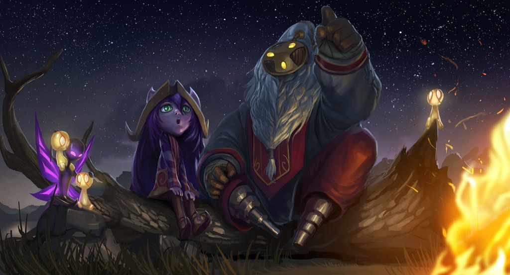 Ysurio League Of Legends Art The Whimsical Star Gazers By Headcrabed League Of Legends Bard Lol League Of Legends