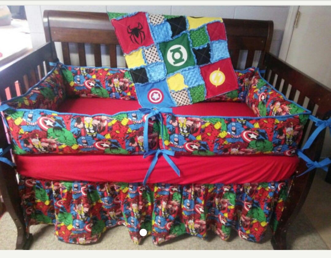 SpiderMan crib bedding Baby bedding sets, Diy crib