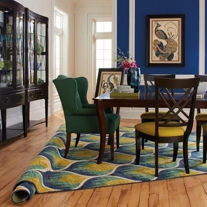 HGTV Home Furniture Collection Shaw Floors Peacock Inspired Area