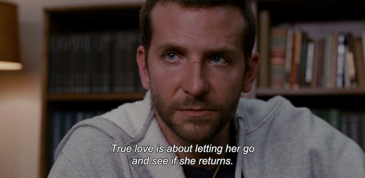 silver linings playbook 2012 true love is about letting her go
