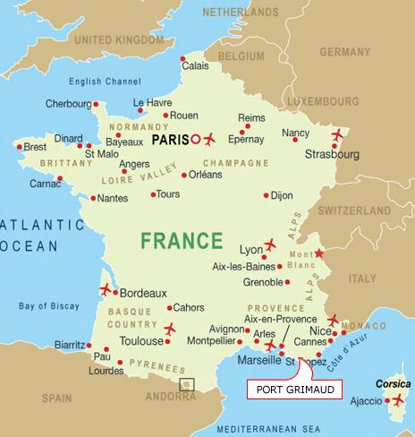 Map Of France Showing Lyon.Image Detail For Map Of French Ports Inspired France Map