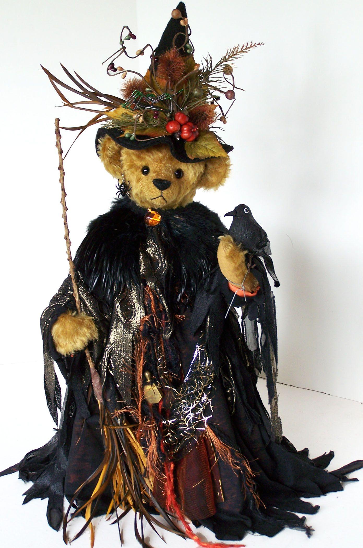 HALLOWEEN TEDDY BEAR WITCH. Martha's Bears
