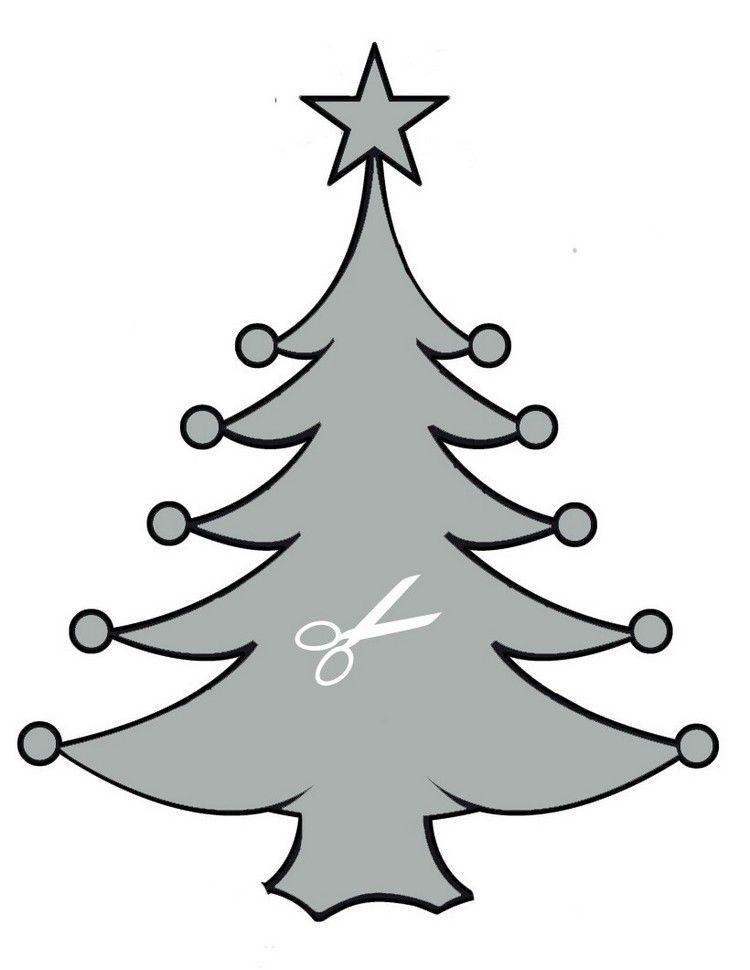 Schablone weihnachtsbaum zum ausschneiden vorlagen for Vorlagen fensterbilder