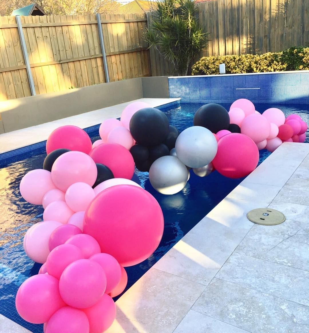 Organic Balloon Garland Pool Decorations Pool Party Decorations