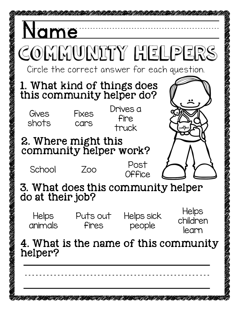 Community Helpers Unit For Preschool And Kindergarten Community Helpers Kindergarten Community Helpers Worksheets Community Helpers [ 1056 x 816 Pixel ]
