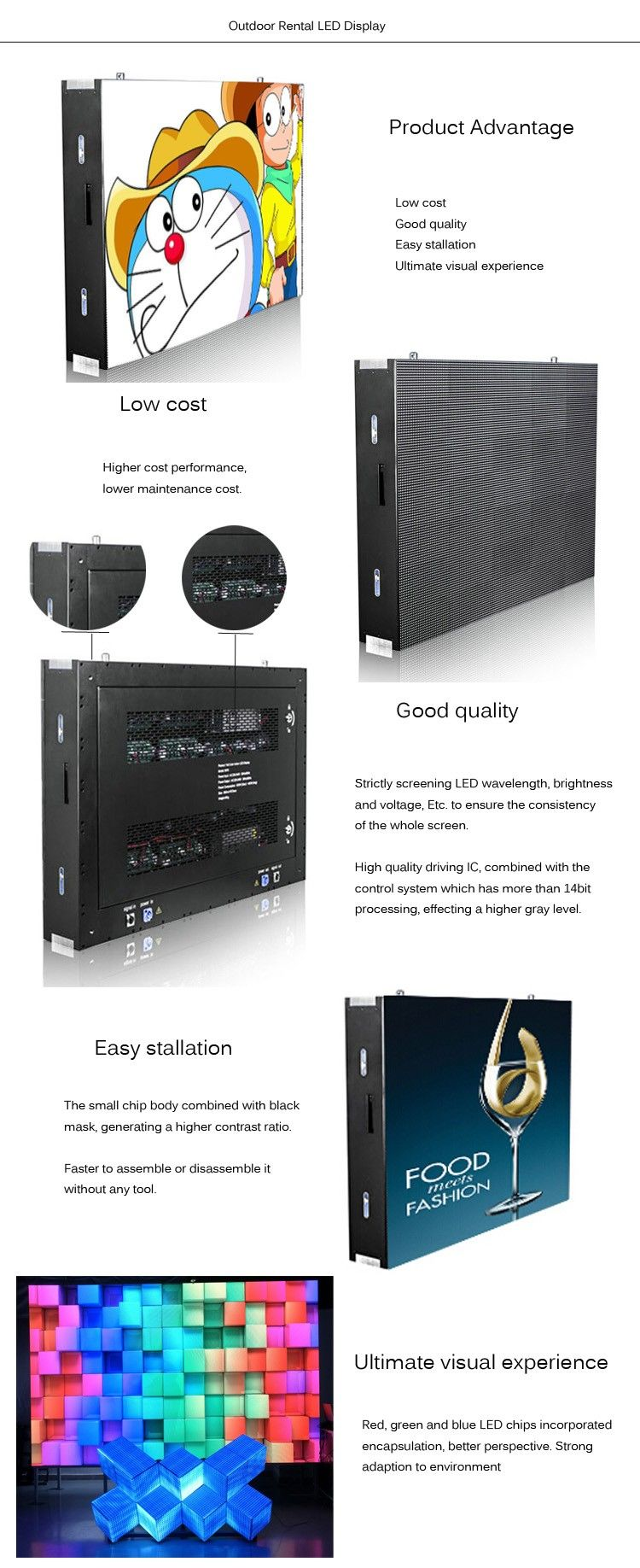 Provide indoor fixed led video wall p3 p4 p5 p6 cheap price