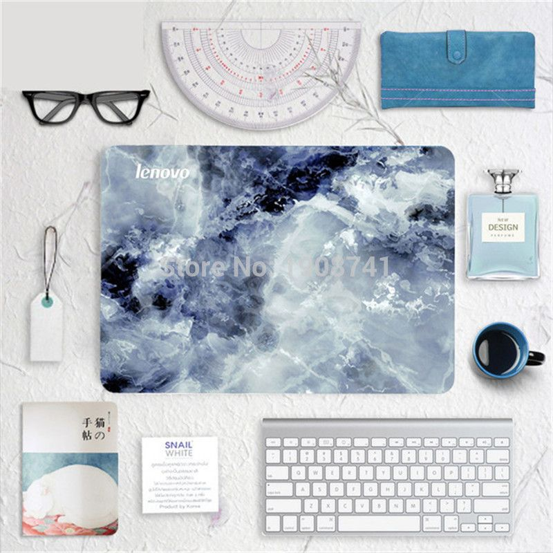 Blue Marble Grain Front Cover Laptop Decal Sticker Case