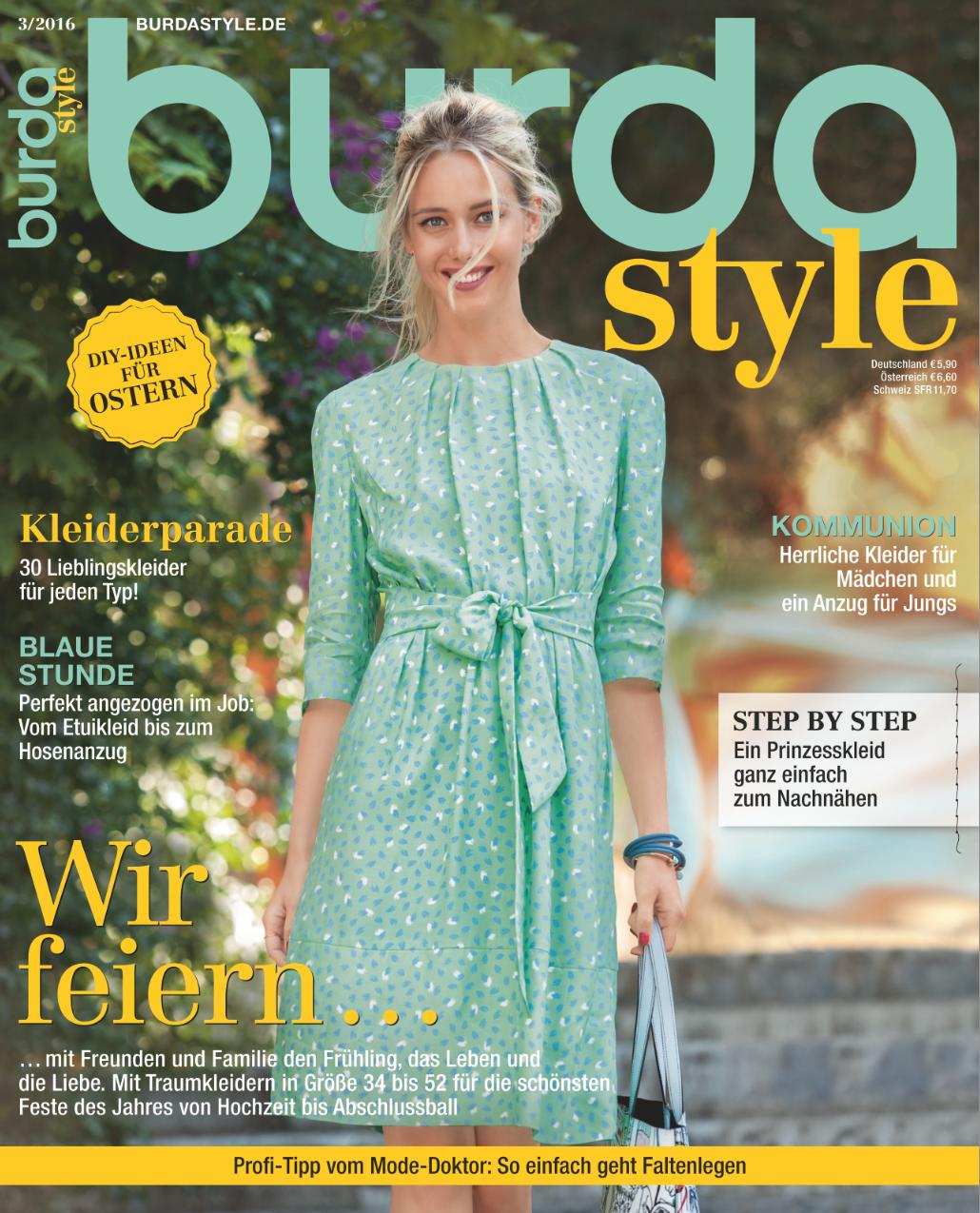 burda style - 03/2016 - Kleider für jeden Typ, Hosenanzug, Culotte ...