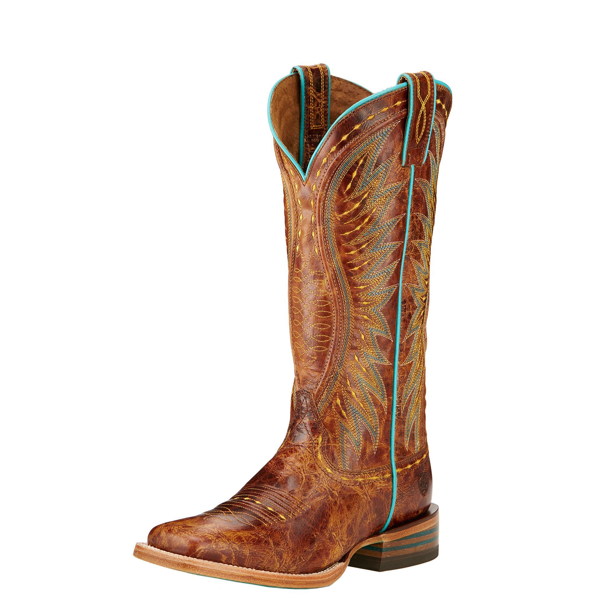 0f9e24d8db2 Ariat Women's Saddle Tan Vaquera Square Toe Boots | Outfits ...