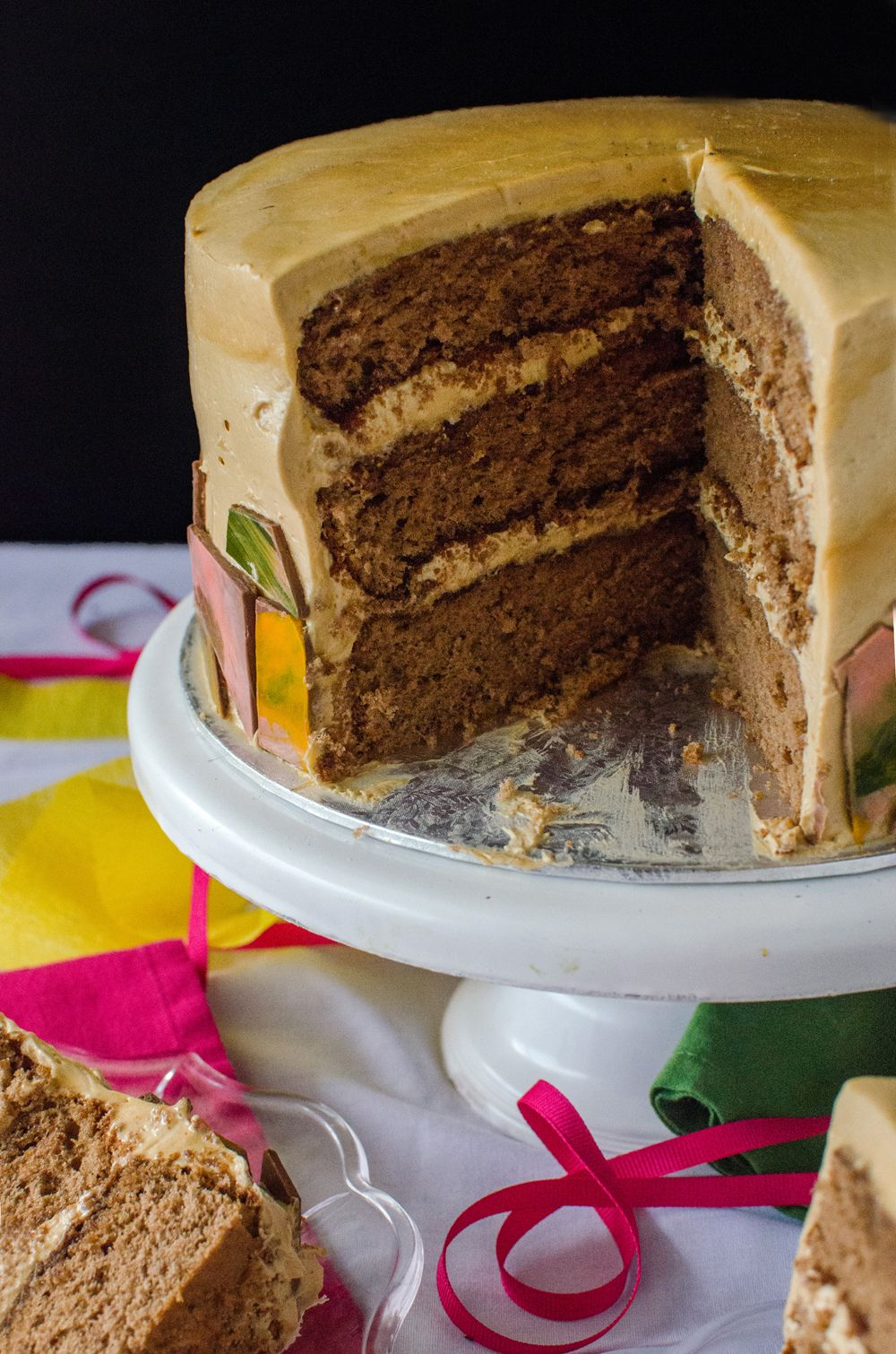 Mocha Genoise Cake with Coffee Caramel Frosting The