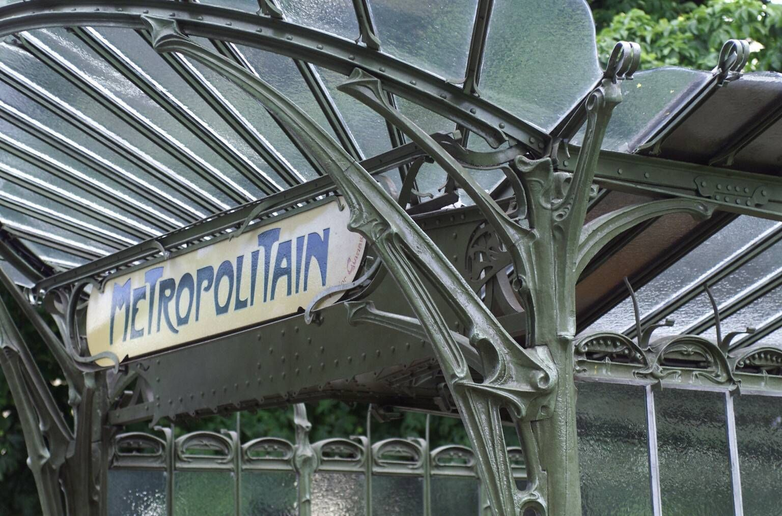 Hector Guimard. Metro Station. Paris. 1901 Art Nouveau