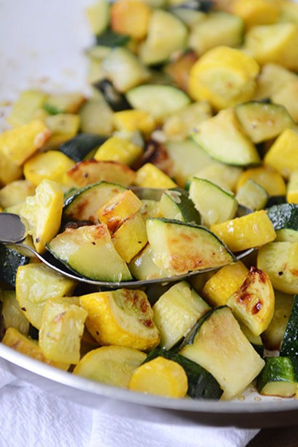 Skillet Zucchini and Yellow Squash  Considering this is the side dish we eat four out of five times during the late summer months I feel like its time to share my feeling...