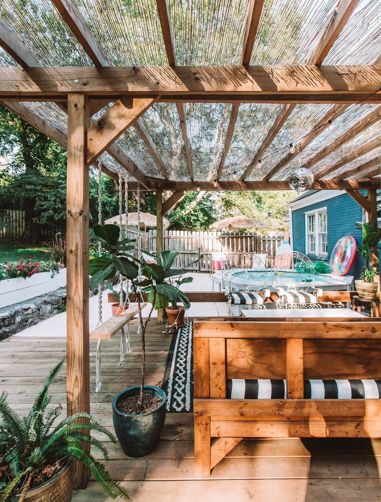 Home Tour: Our DIY Boho Backyard Oasis #backyardoasis