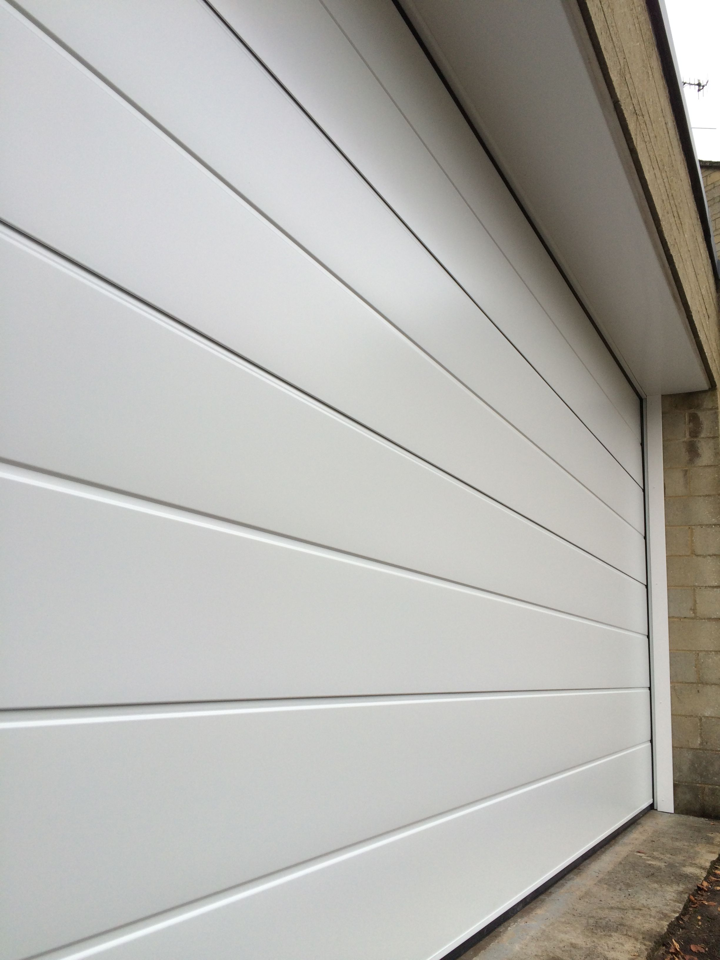 Sectional Garage Door Centre Ribbed Design Automatic Sectional
