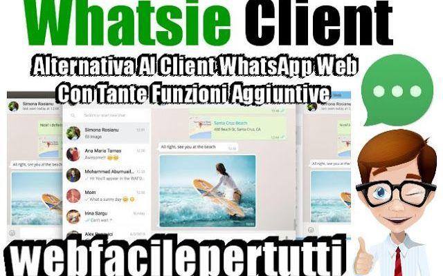 (Whatsie)  Ecco L' Alternativa Al Client Desktop WhatsApp Web Con Tante Funzioni Aggiuntive Alternativa Al Client Desktop WhatsApp Web Con Tante Funzioni Aggiuntive Oggi vogliamo segnalarvi Whatsie , un'ottima e valida alternativa al classico client di WhatsappWeb che ha tante funzioni agg #whatsie #whatsapp #chat