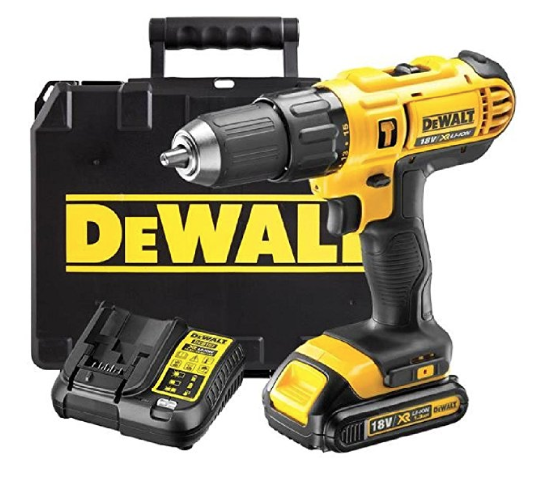 Dewalt 18v Cordless Lithium Lxt Combi Drill Driver With Hammer Action Complete With Fast Charger Heavy Duty Carrying Case Dewalt Drill Dewalt Drill Driver